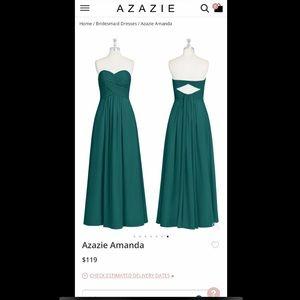 Azazie Amanda dress size A8 in color Peacock